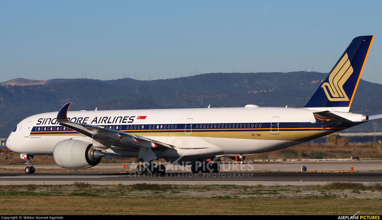 Singapore Airlines 9V-SMO aircraft at Barcelona - El Prat