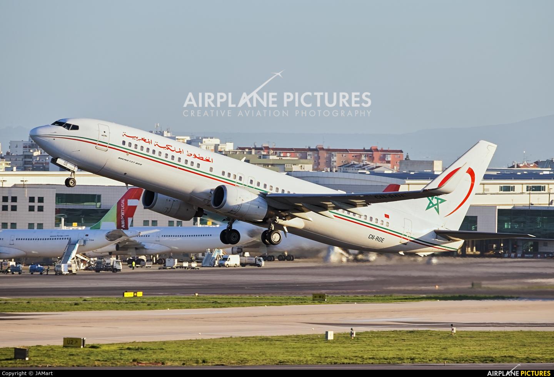 Royal Air Maroc CN-ROE aircraft at Lisbon