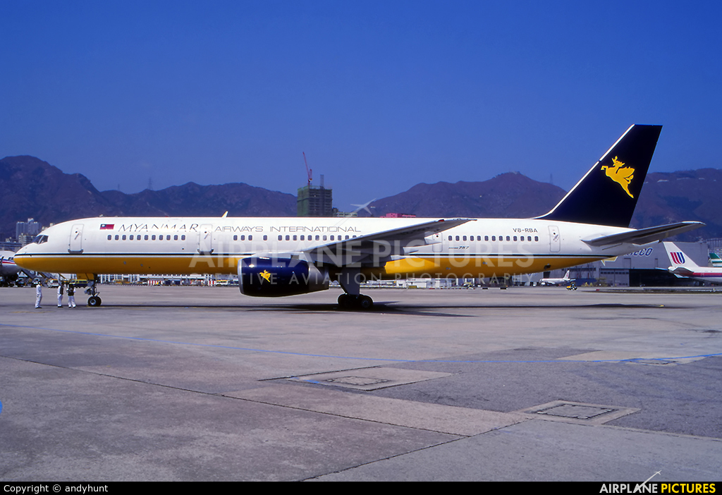Myanmar Airways International V8-RBA aircraft at HKG - Kai Tak Intl CLOSED