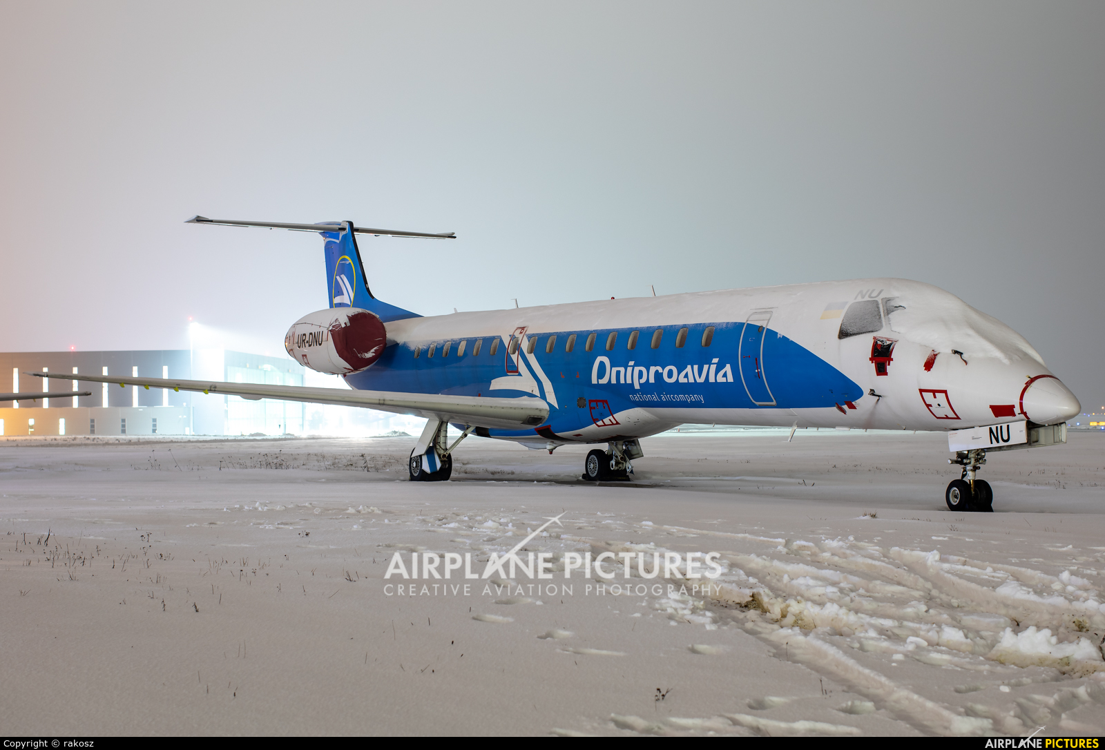 Dniproavia UR-DNU aircraft at Katowice - Pyrzowice