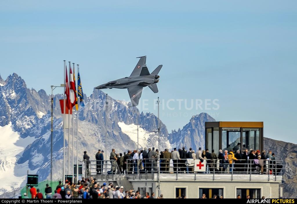 Switzerland - Air Force J-5010 aircraft at Axalp - Ebenfluh Range