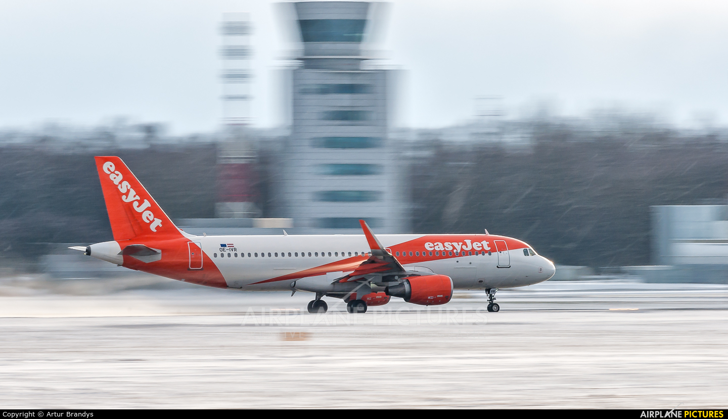 easyJet Europe OE-IVR aircraft at Kraków - John Paul II Intl