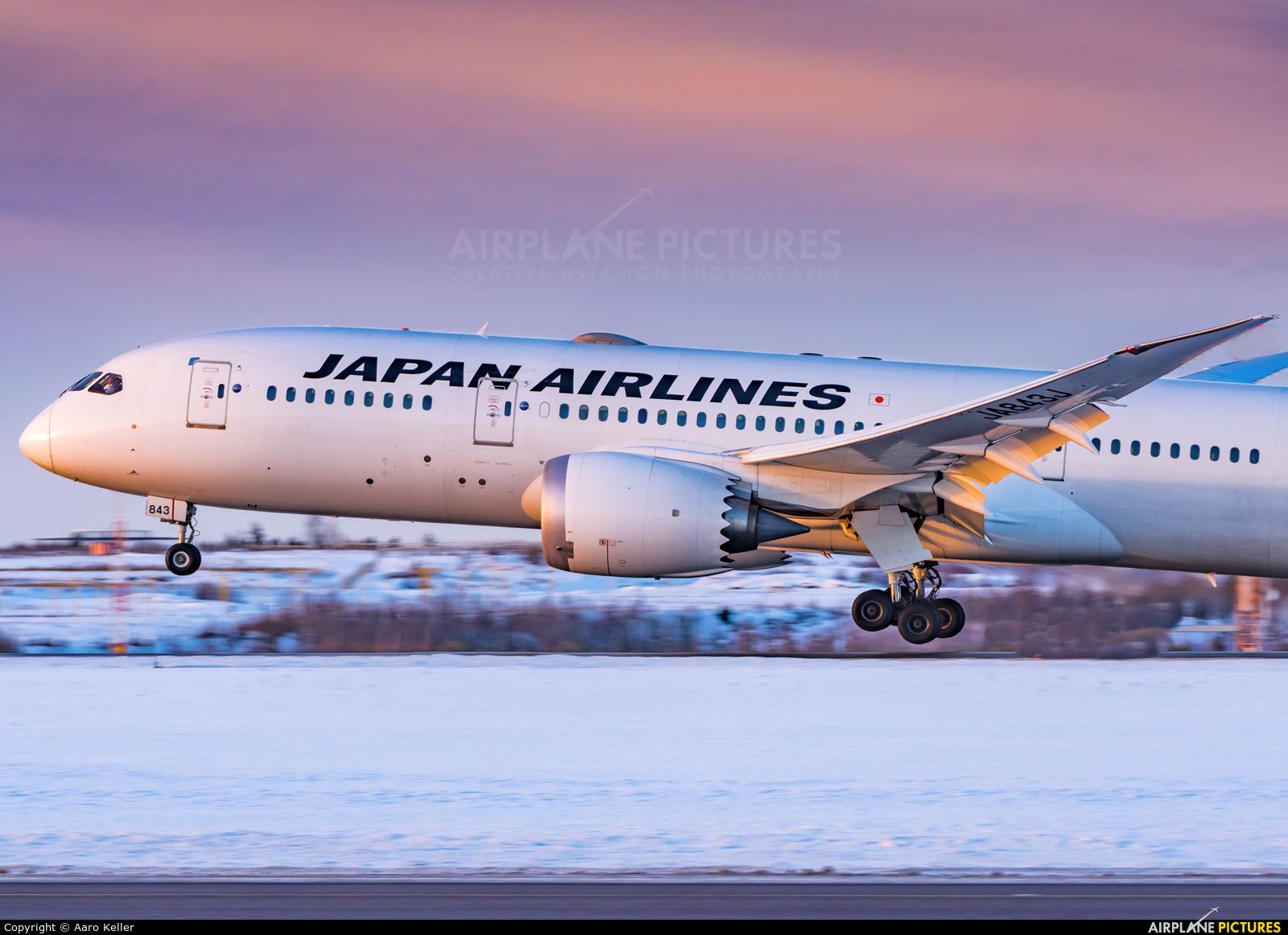 JAL - Japan Airlines JA843J aircraft at Helsinki - Vantaa