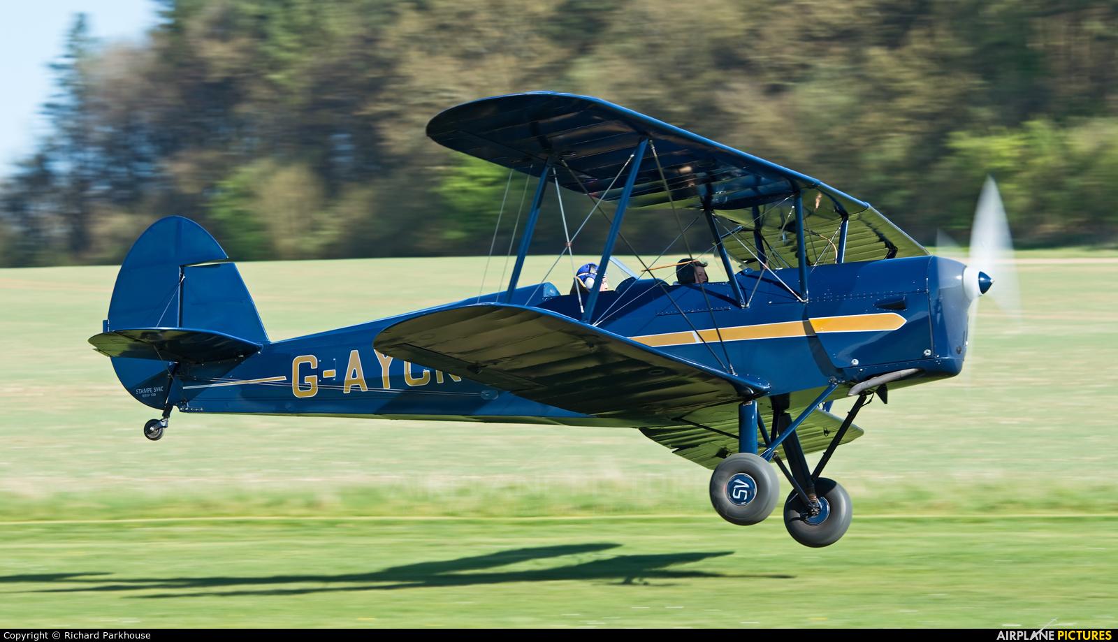 Private G-AYCK aircraft at Popham