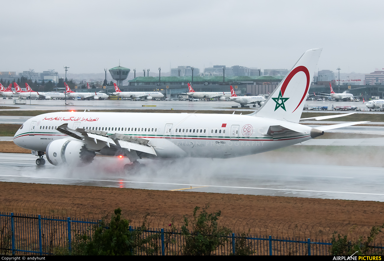 Royal Air Maroc CN-RGU aircraft at Istanbul - Ataturk