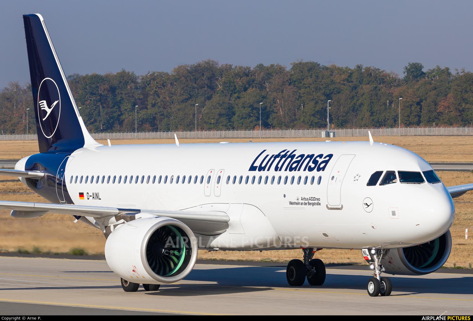Lufthansa D-AINL aircraft at Frankfurt