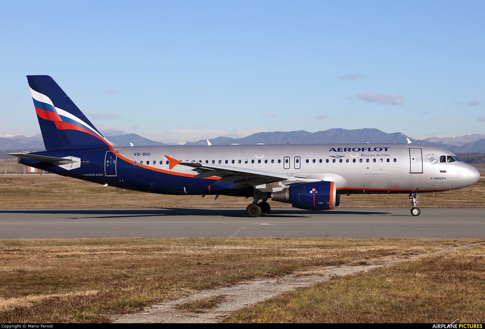 Aeroflot VQ-BIU aircraft at Milan - Malpensa