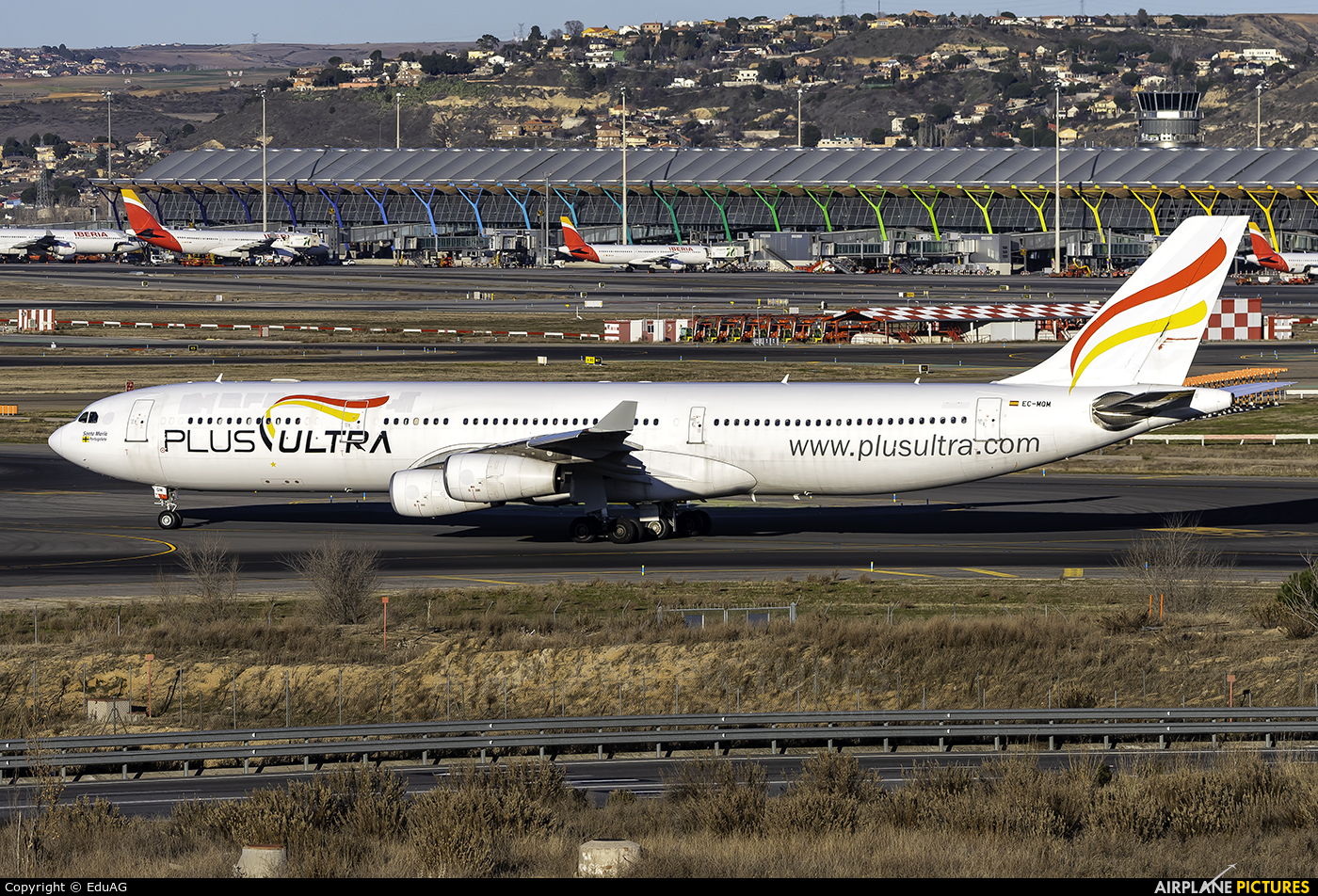 Plus Ultra EC-MQM aircraft at Madrid - Barajas
