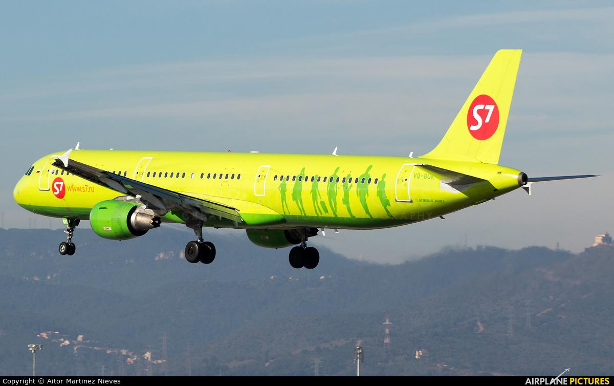 S7 Airlines VQ-BQK aircraft at Barcelona - El Prat