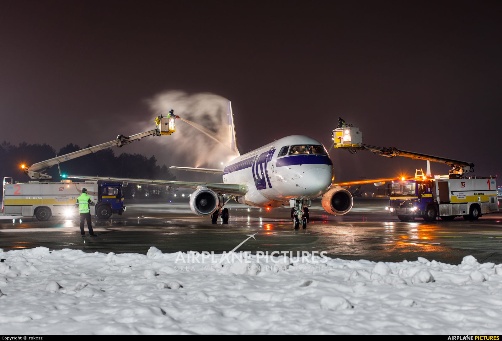 LOT - Polish Airlines SP-LIN aircraft at Katowice - Pyrzowice