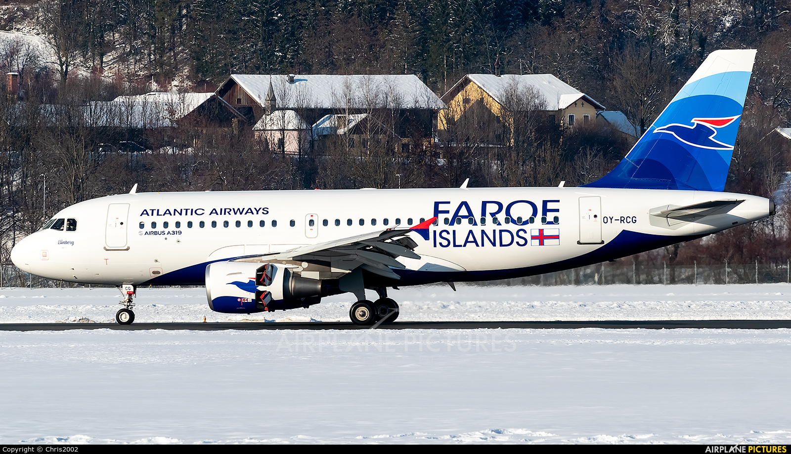 Atlantic Airways OY-RCG aircraft at Innsbruck