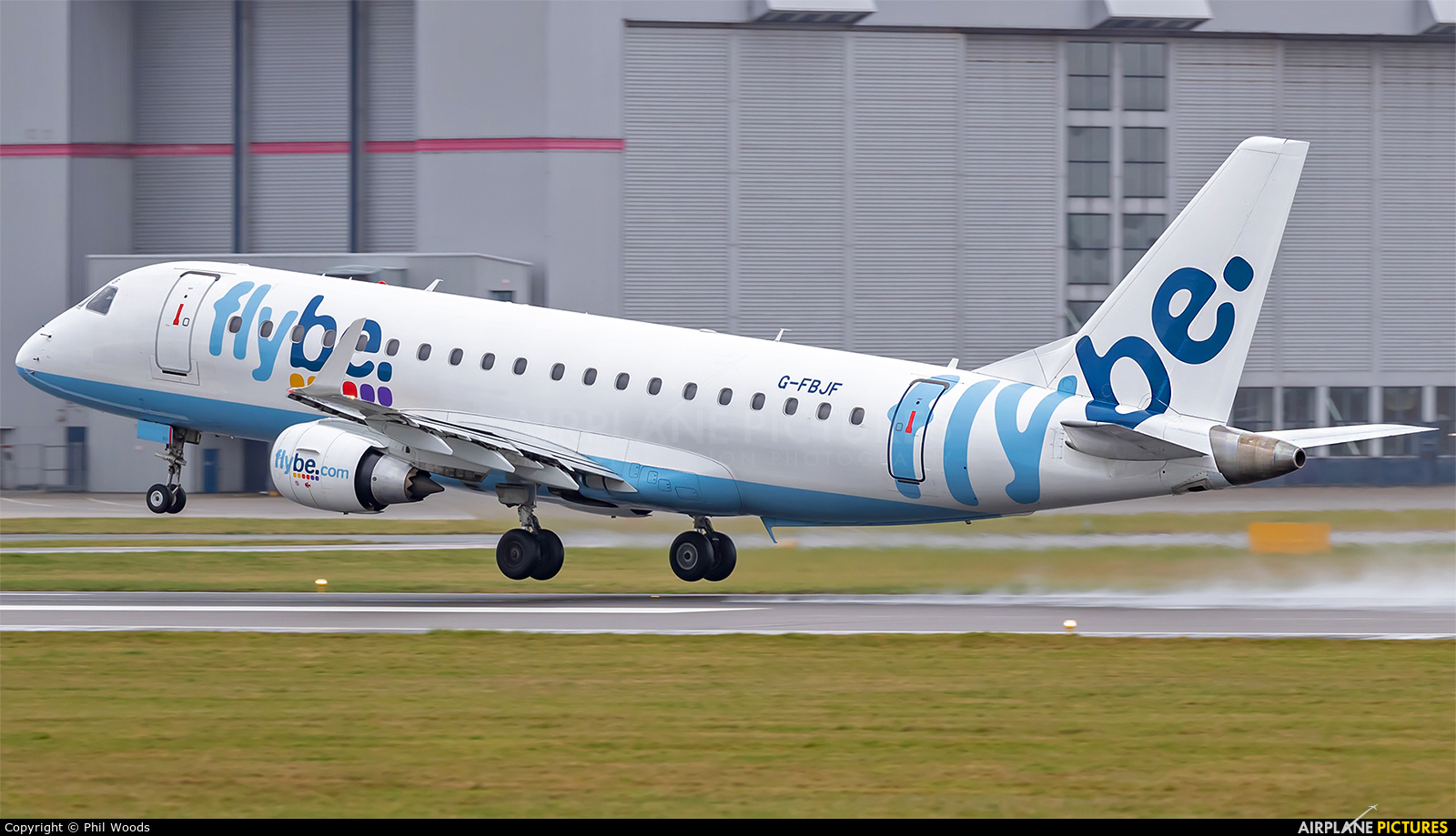 Flybe G-FBJF aircraft at Cardiff