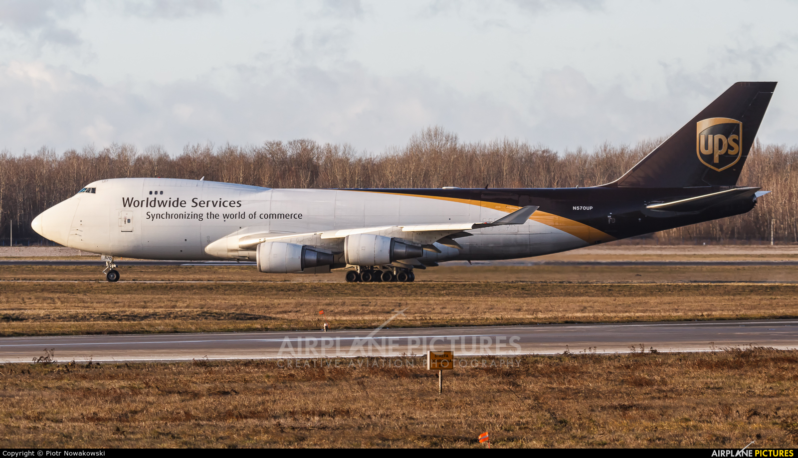 UPS - United Parcel Service N570UP aircraft at Warsaw - Frederic Chopin