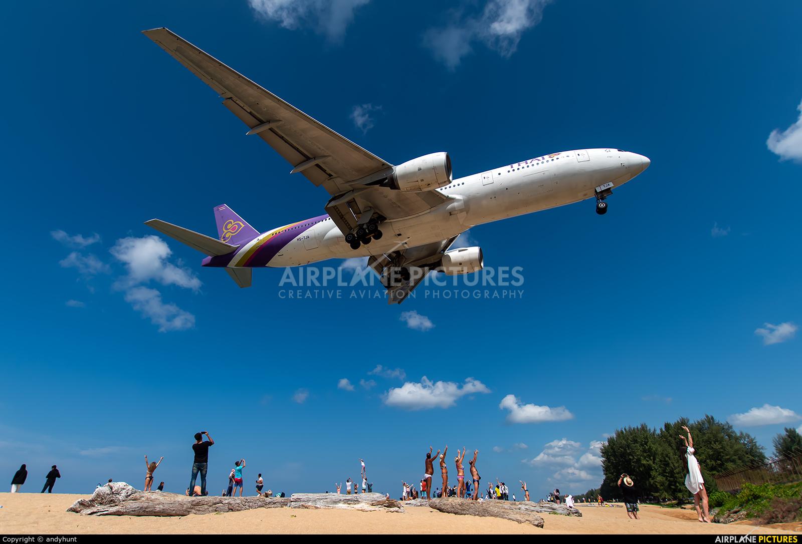 Thai Airways HS-TJA aircraft at Phuket