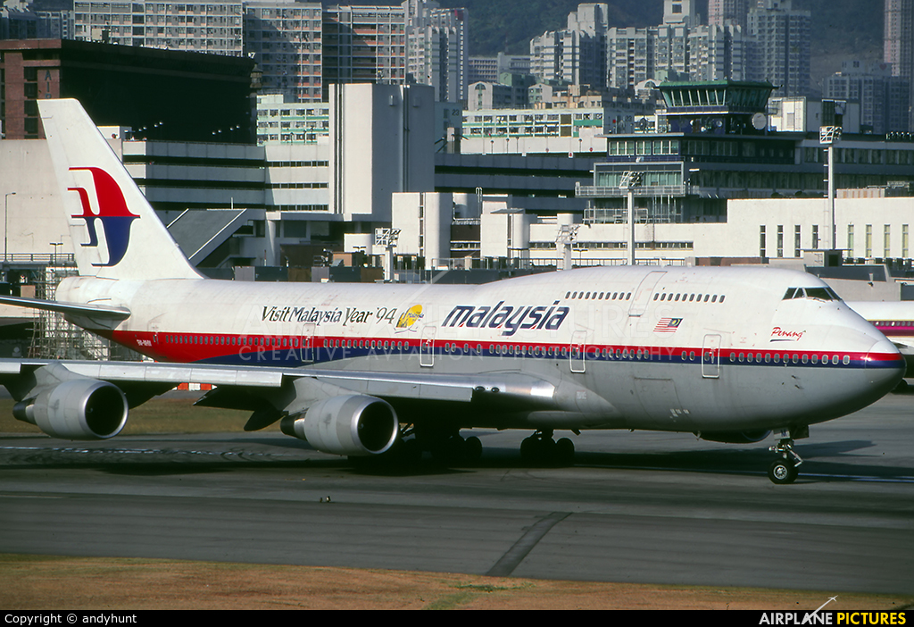 Malaysia Airlines 9M-MHM aircraft at HKG - Kai Tak Intl CLOSED