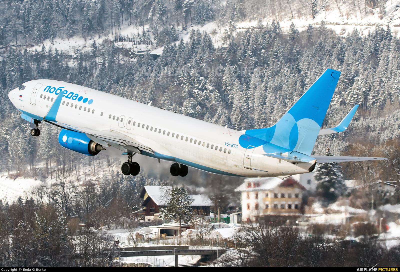 Pobeda VQ-BTG aircraft at Innsbruck