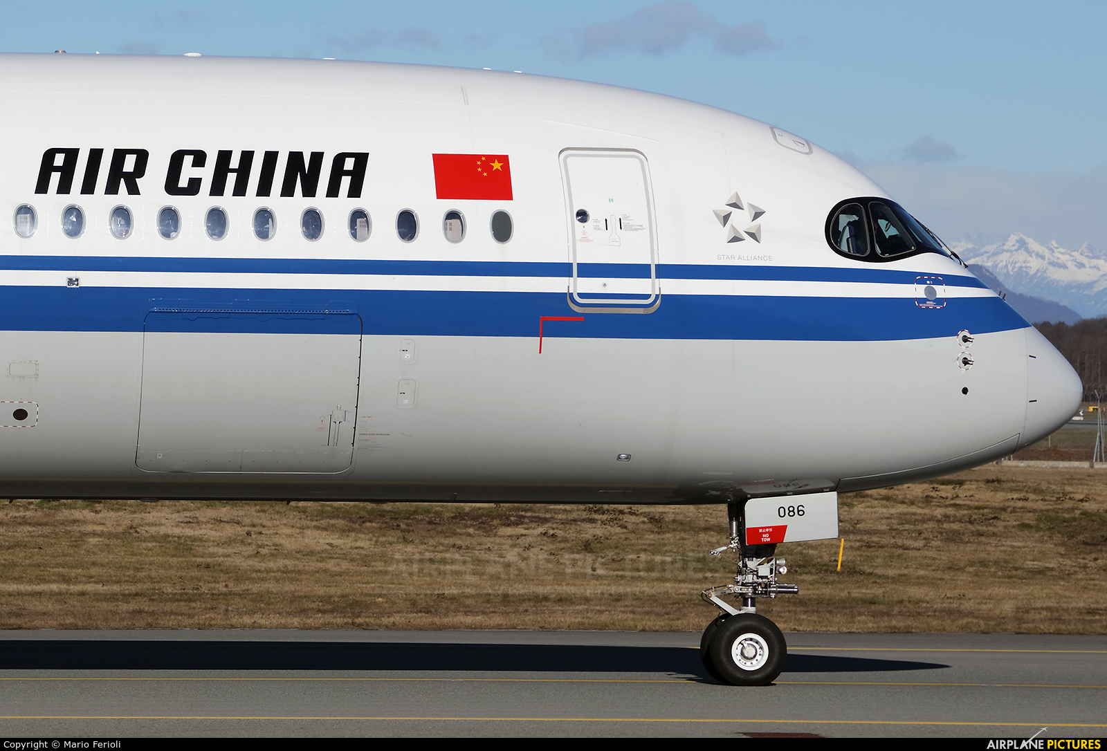 Air China B-1086 aircraft at Milan - Malpensa