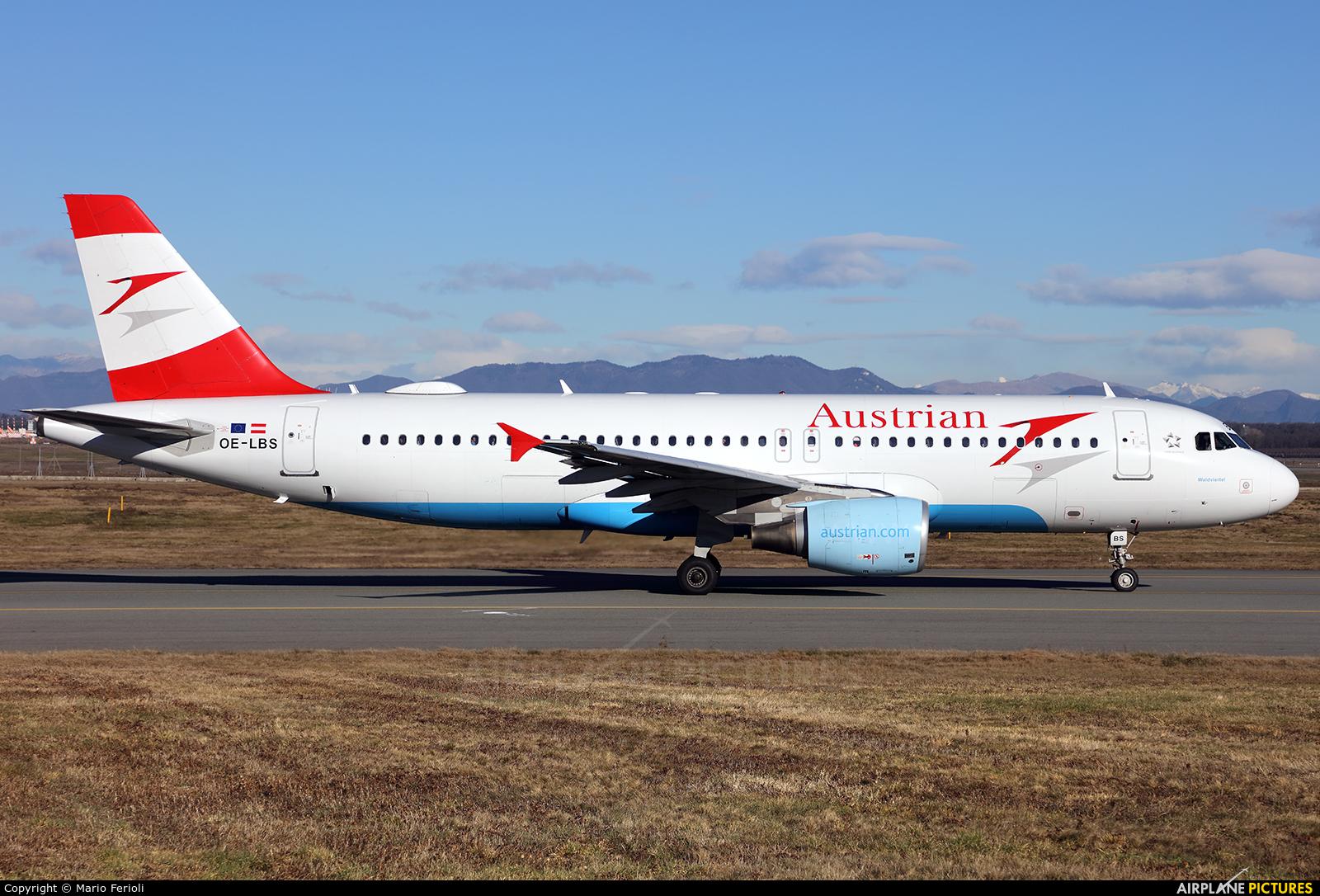 Austrian Airlines/Arrows/Tyrolean OE-LBS aircraft at Milan - Malpensa