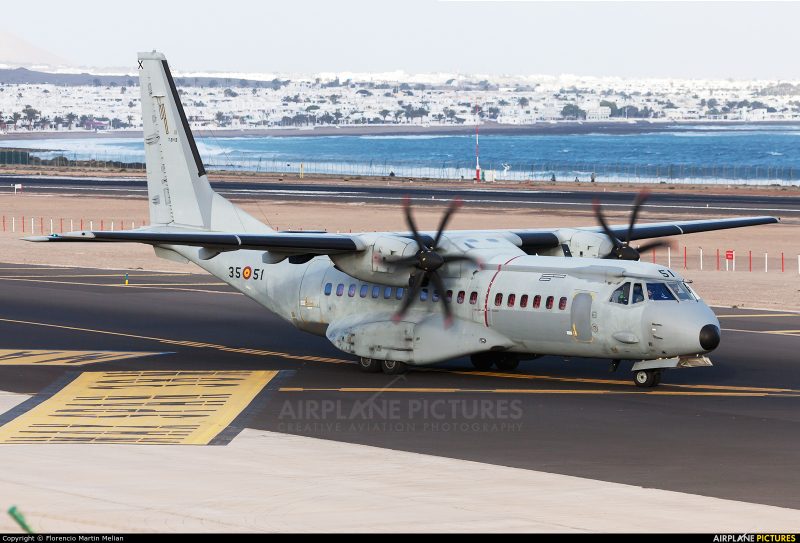Spain - Air Force T.21-13 aircraft at Lanzarote - Arrecife