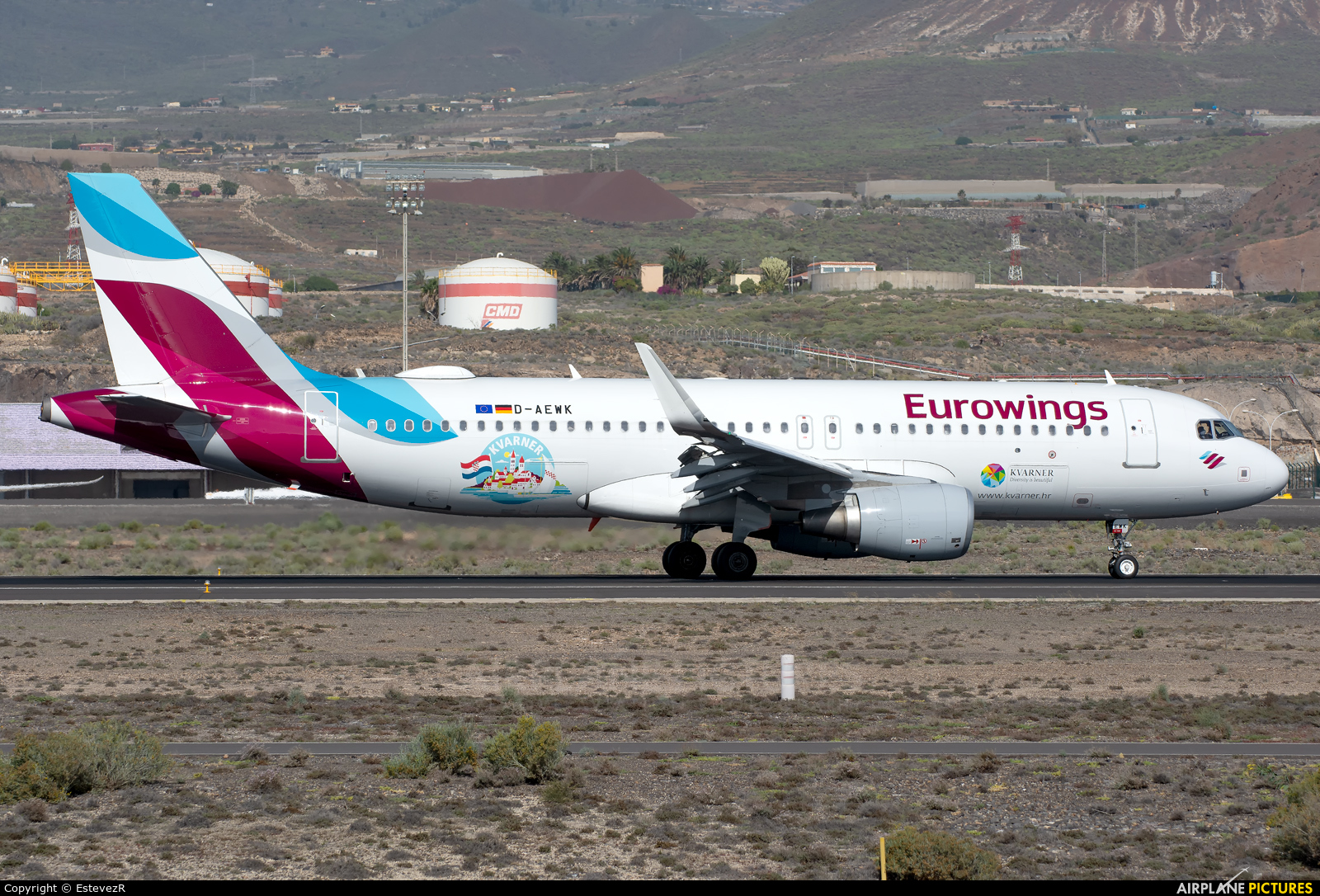 Eurowings D-AEWK aircraft at Tenerife Sur - Reina Sofia
