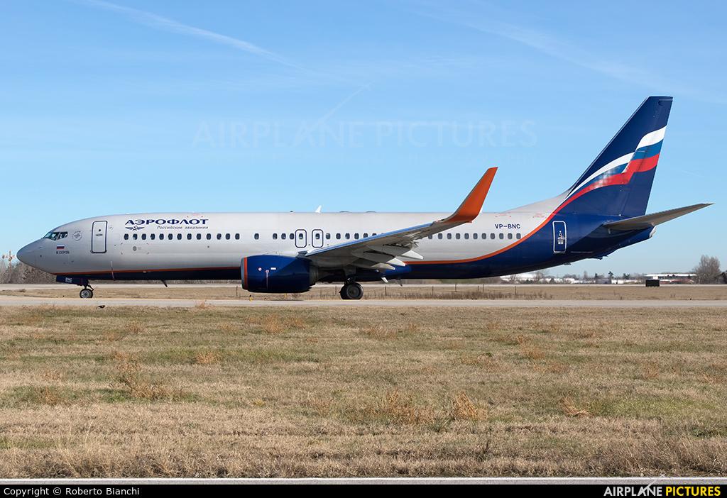 Aeroflot VP-BNC aircraft at Bologna - Borgo Panigale