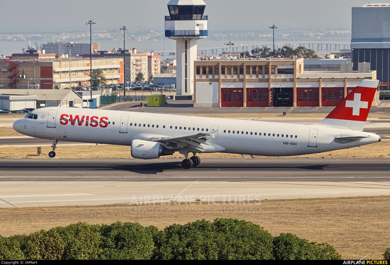 Swiss HB-IOH aircraft at Lisbon