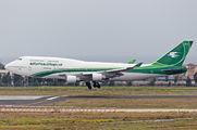 YI-ASA - Iraqi Airways Boeing 747-400 aircraft