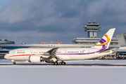President of Zimbabwe arrived to Minsk with Deer Jet Boeing 787 title=