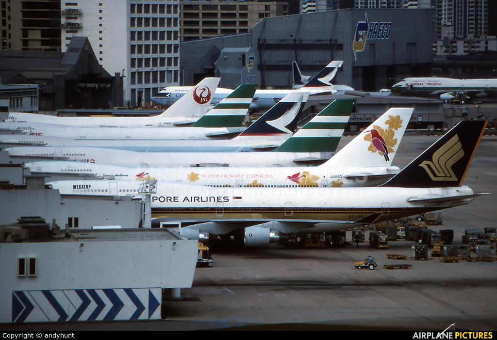 Singapore Airlines 9V-SML aircraft at HKG - Kai Tak Intl CLOSED