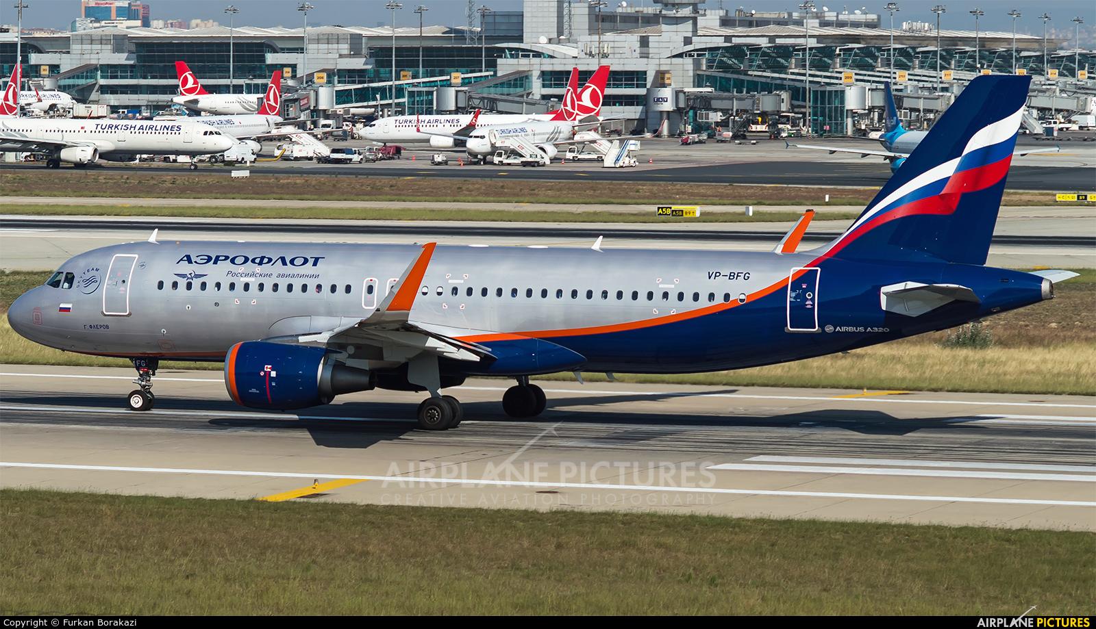 Aeroflot VP-BFG aircraft at Istanbul - Ataturk