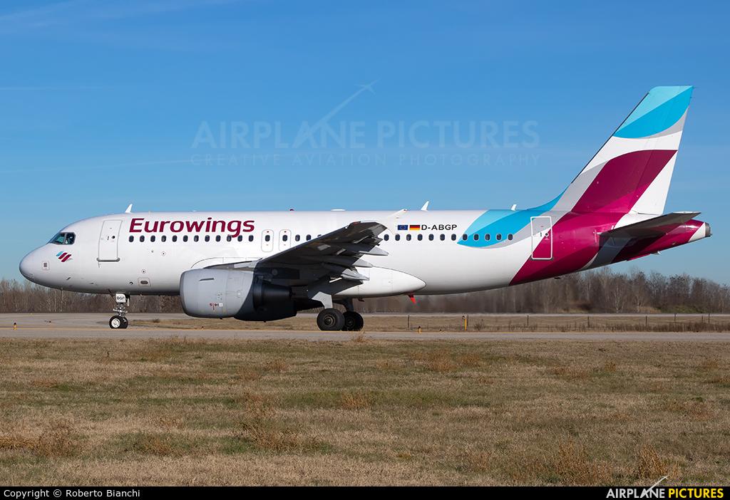 Eurowings D-ABGP aircraft at Bologna - Borgo Panigale