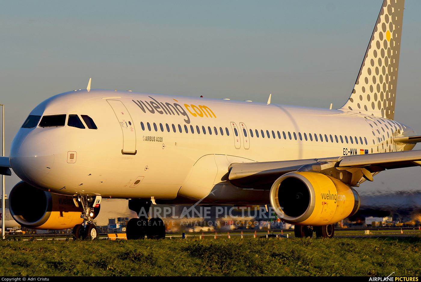 Vueling Airlines EC-MVM aircraft at Amsterdam - Schiphol