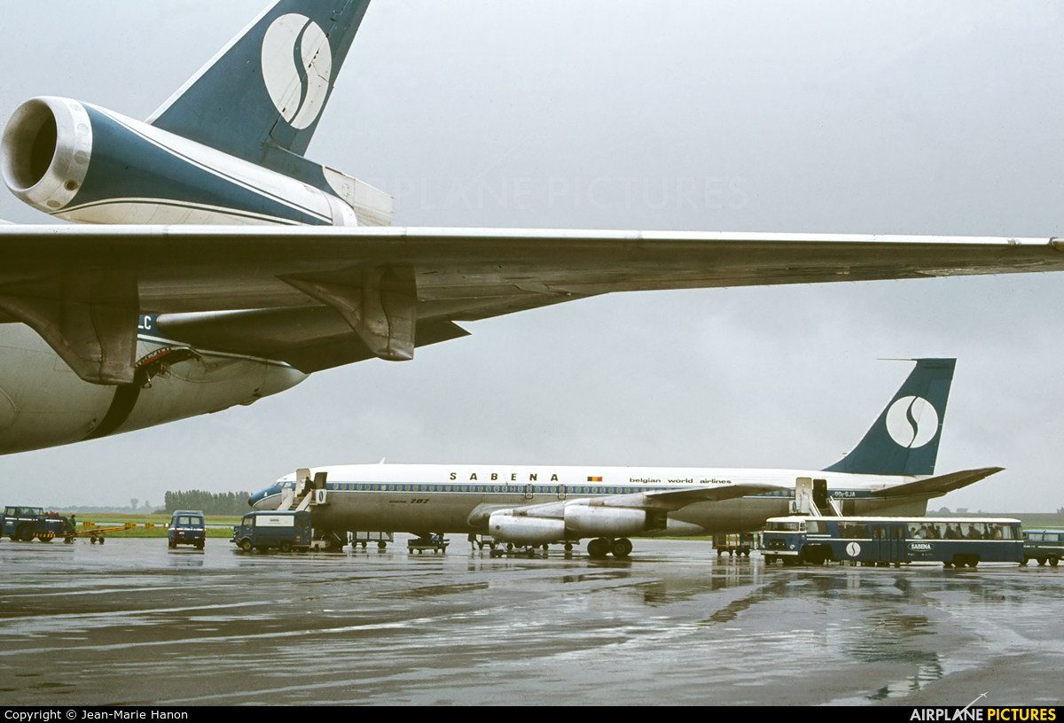 Sabena OO-SJA aircraft at Brussels - Zaventem