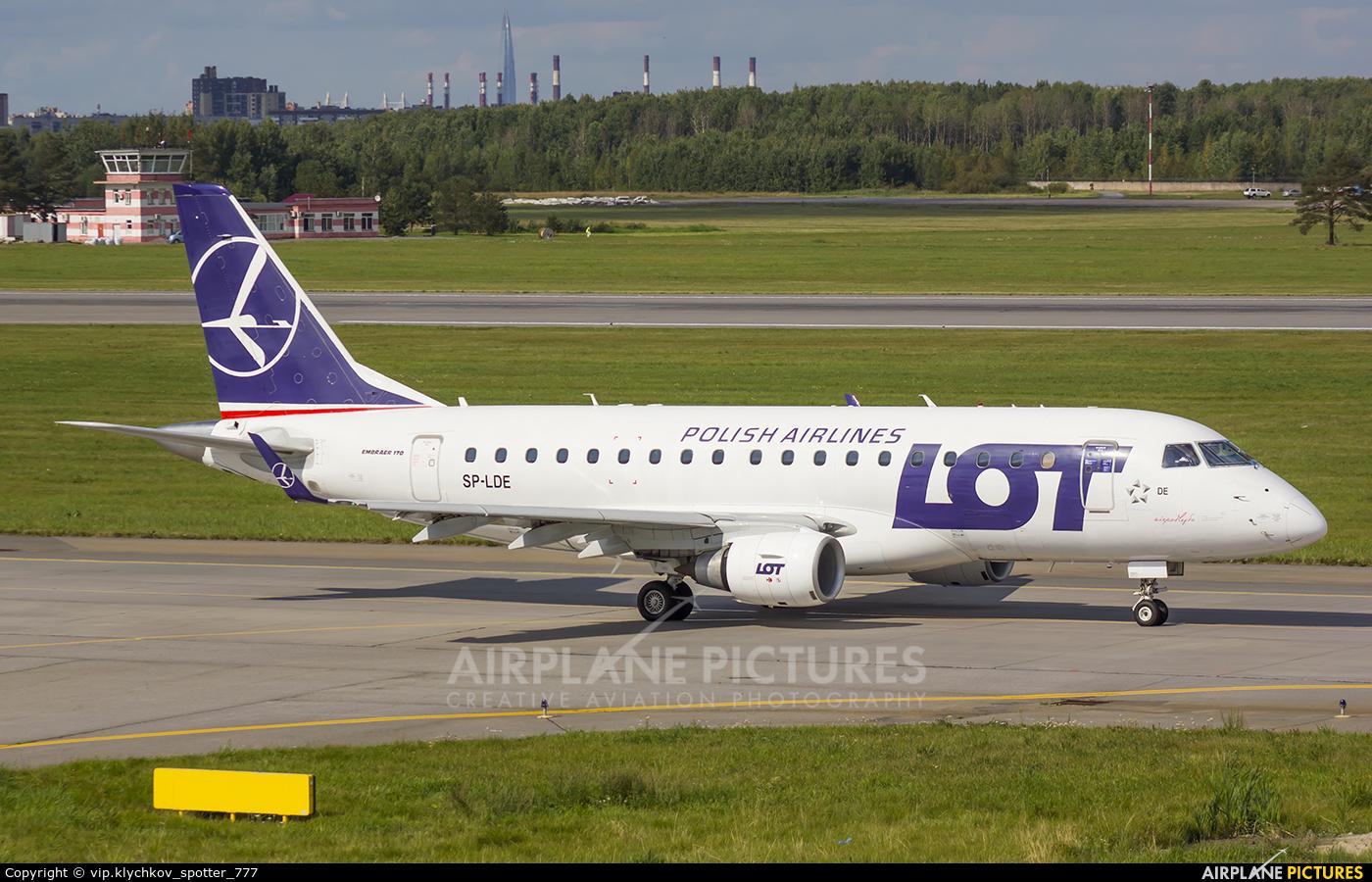 LOT - Polish Airlines SP-LDE aircraft at St. Petersburg - Pulkovo