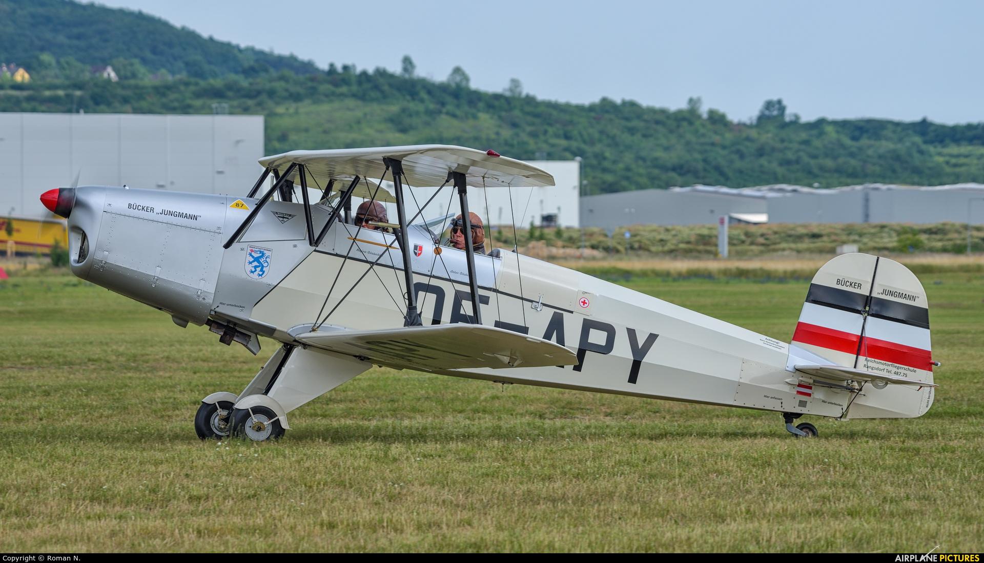 Private OE-APY aircraft at Mladá Boleslav
