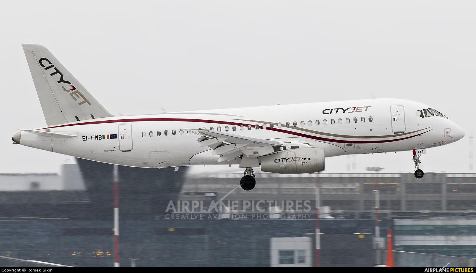 CityJet EI-FWB aircraft at Kraków - John Paul II Intl