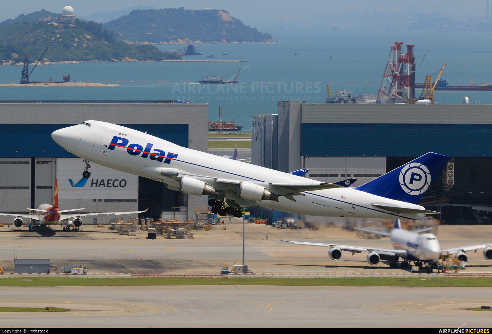 Polar Air Cargo N450PA aircraft at HKG - Chek Lap Kok Intl