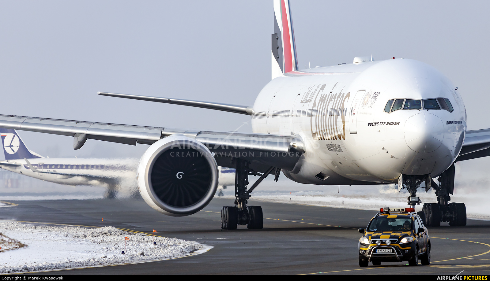 Emirates Airlines A6-EBH aircraft at Warsaw - Frederic Chopin