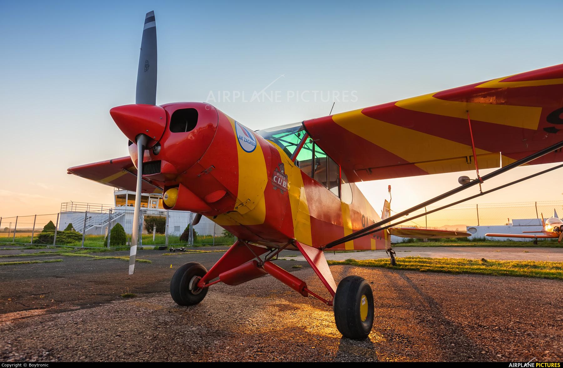 Aeroklub Zagreb 9A-DBS aircraft at Lučko