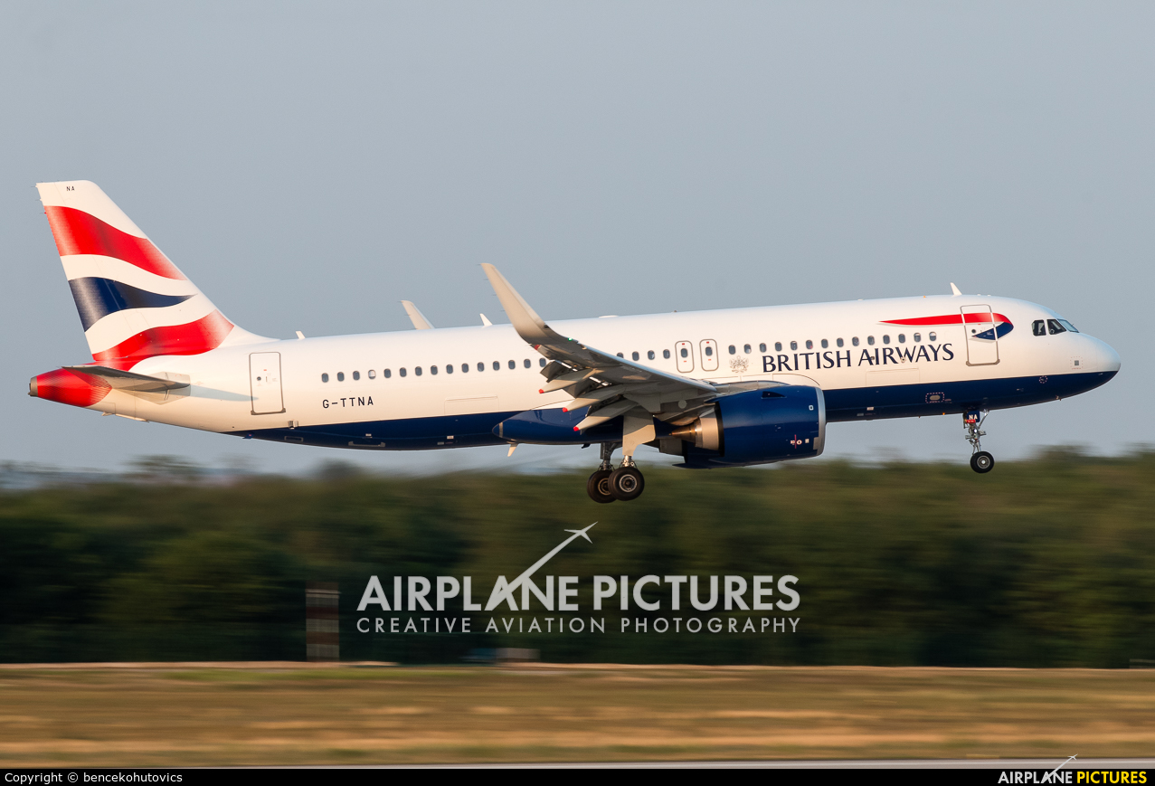 British Airways G-TTNA aircraft at Budapest Ferenc Liszt International Airport
