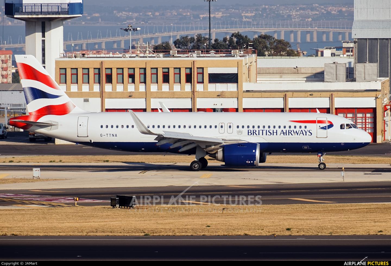 British Airways G-TTNA aircraft at Lisbon