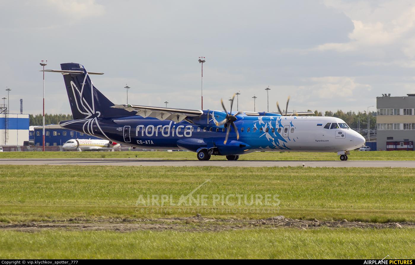 Nordica ES-ATA aircraft at St. Petersburg - Pulkovo