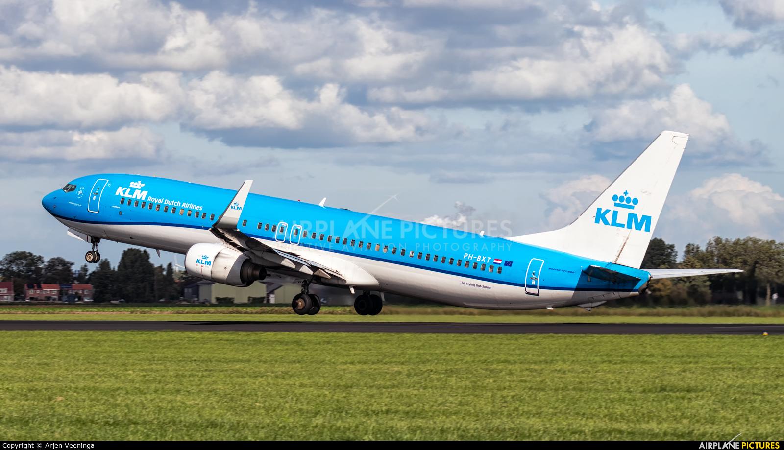 KLM PH-BXT aircraft at Amsterdam - Schiphol