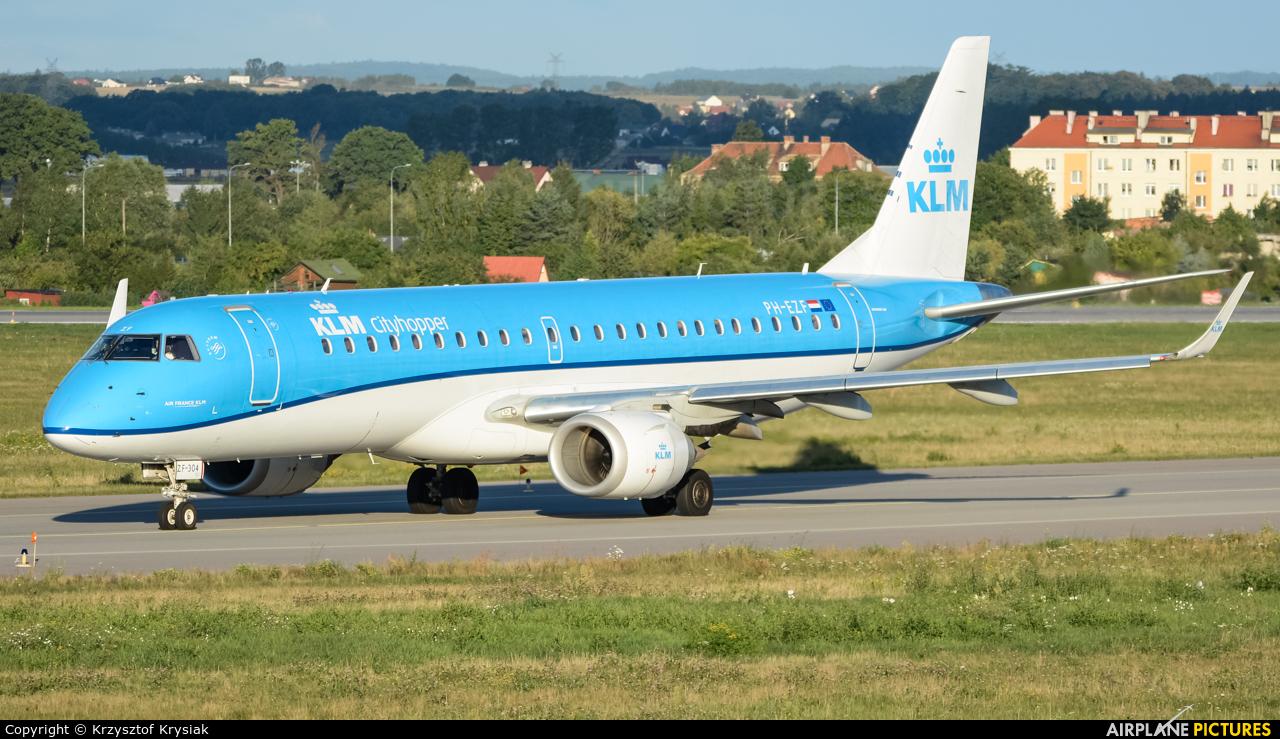 KLM Cityhopper PH-EZF aircraft at Gdańsk - Lech Wałęsa