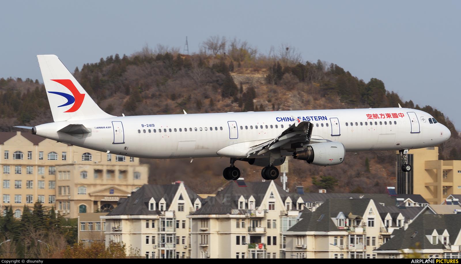 China Eastern Airlines B-2419 aircraft at Dalian Zhoushuizi Int'l