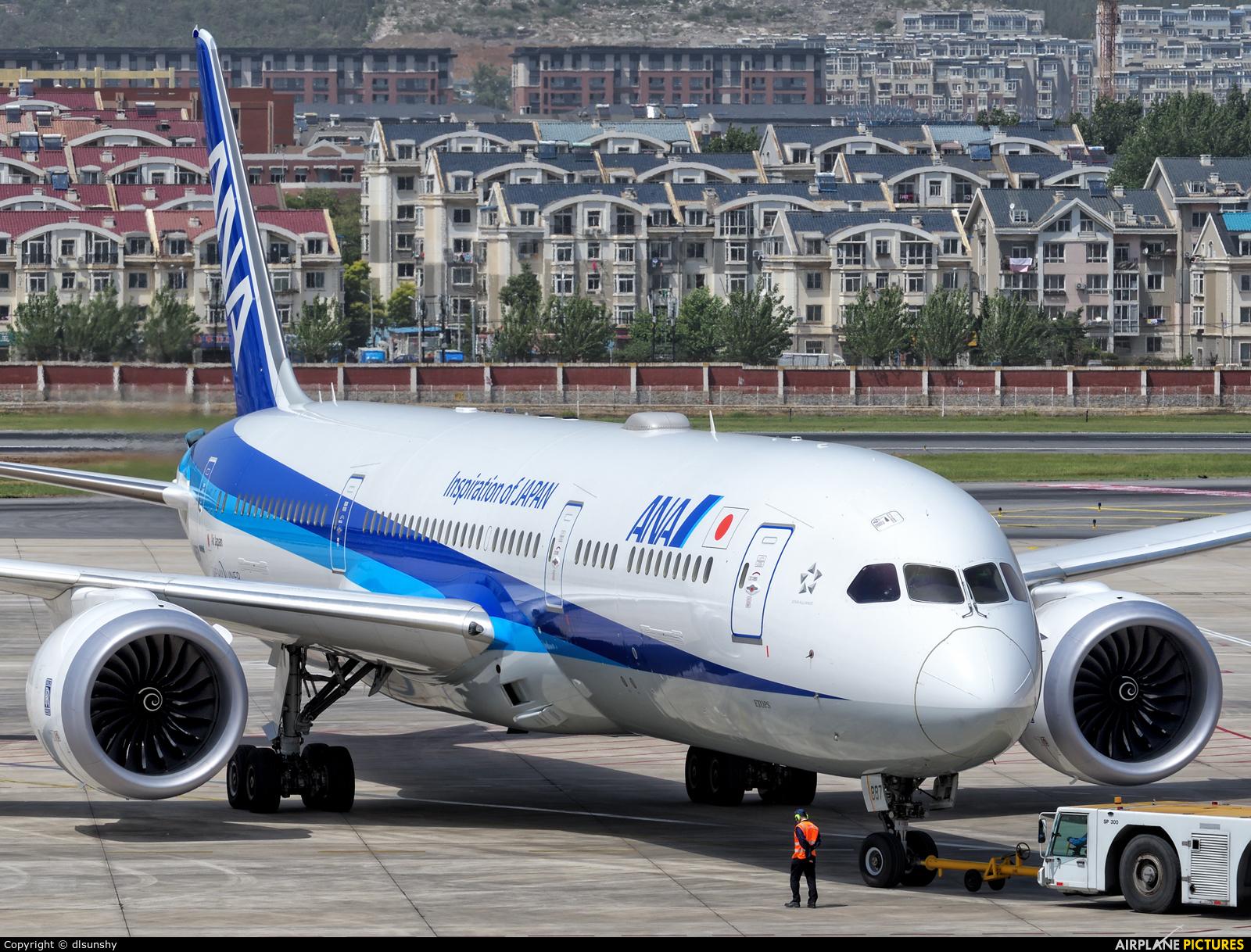 ANA - All Nippon Airways JA887A aircraft at Dalian Zhoushuizi Int'l