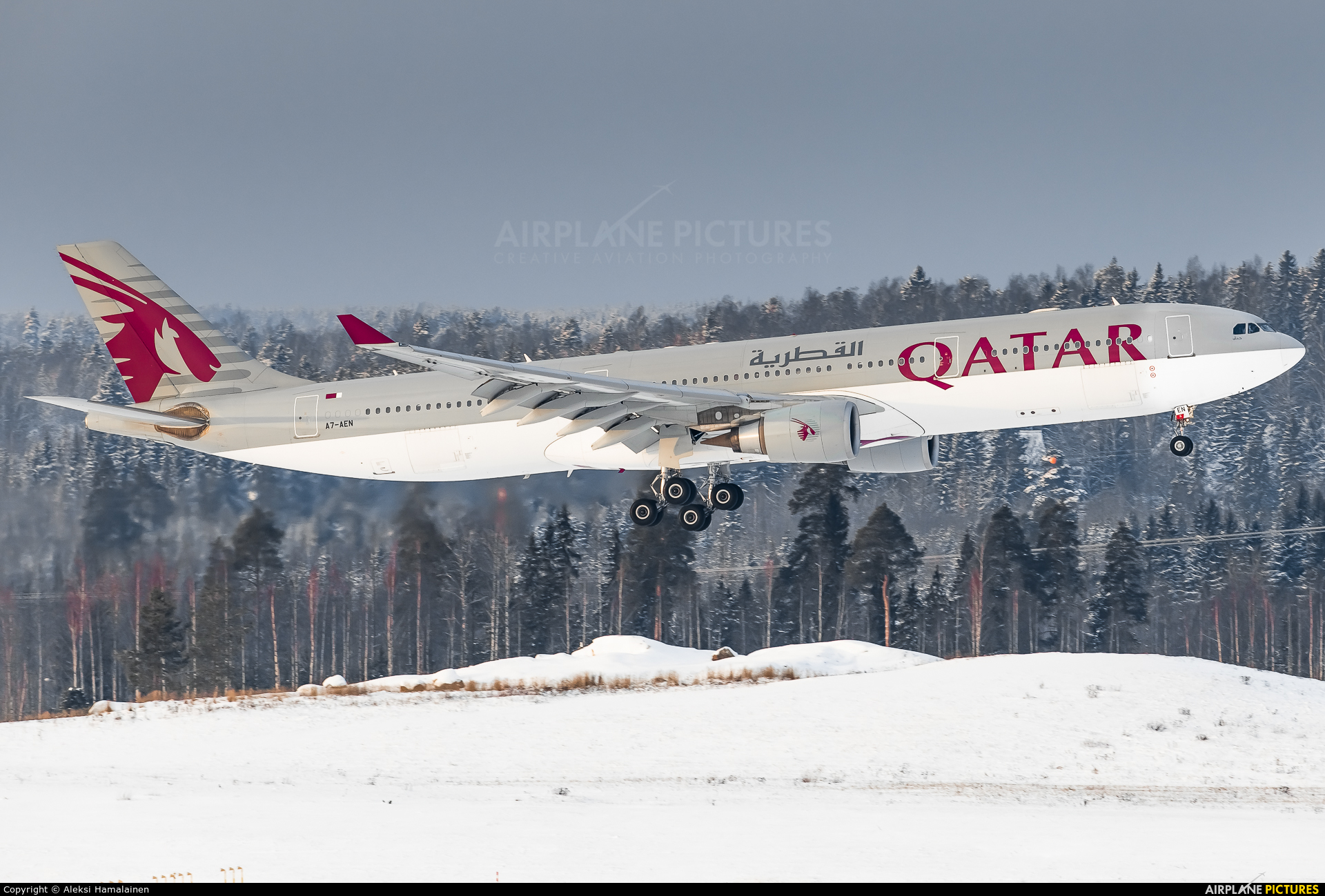 Qatar Airways A7-AEN aircraft at Helsinki - Vantaa