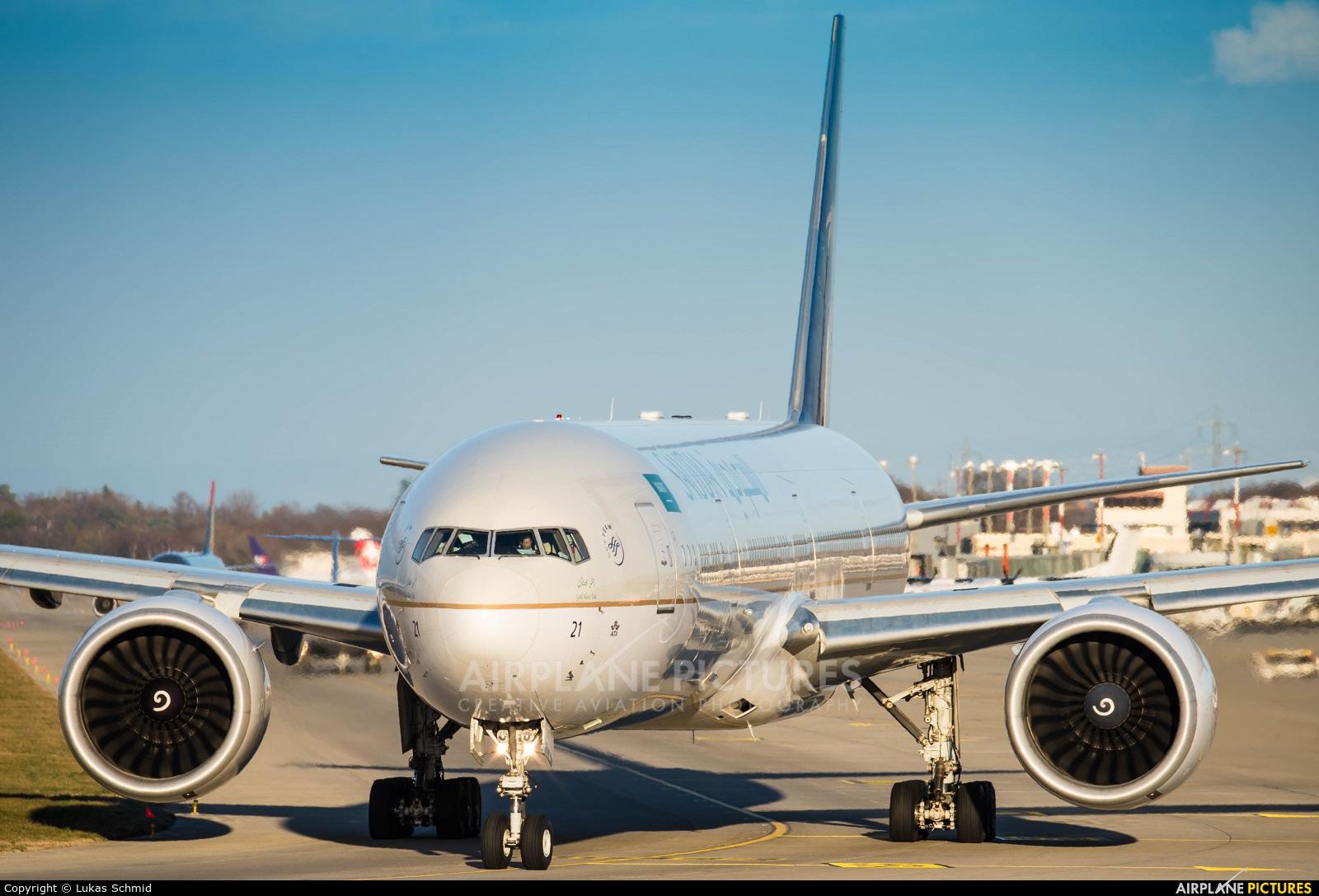 Saudi Arabian Airlines HZ-AK21 aircraft at Geneva Intl