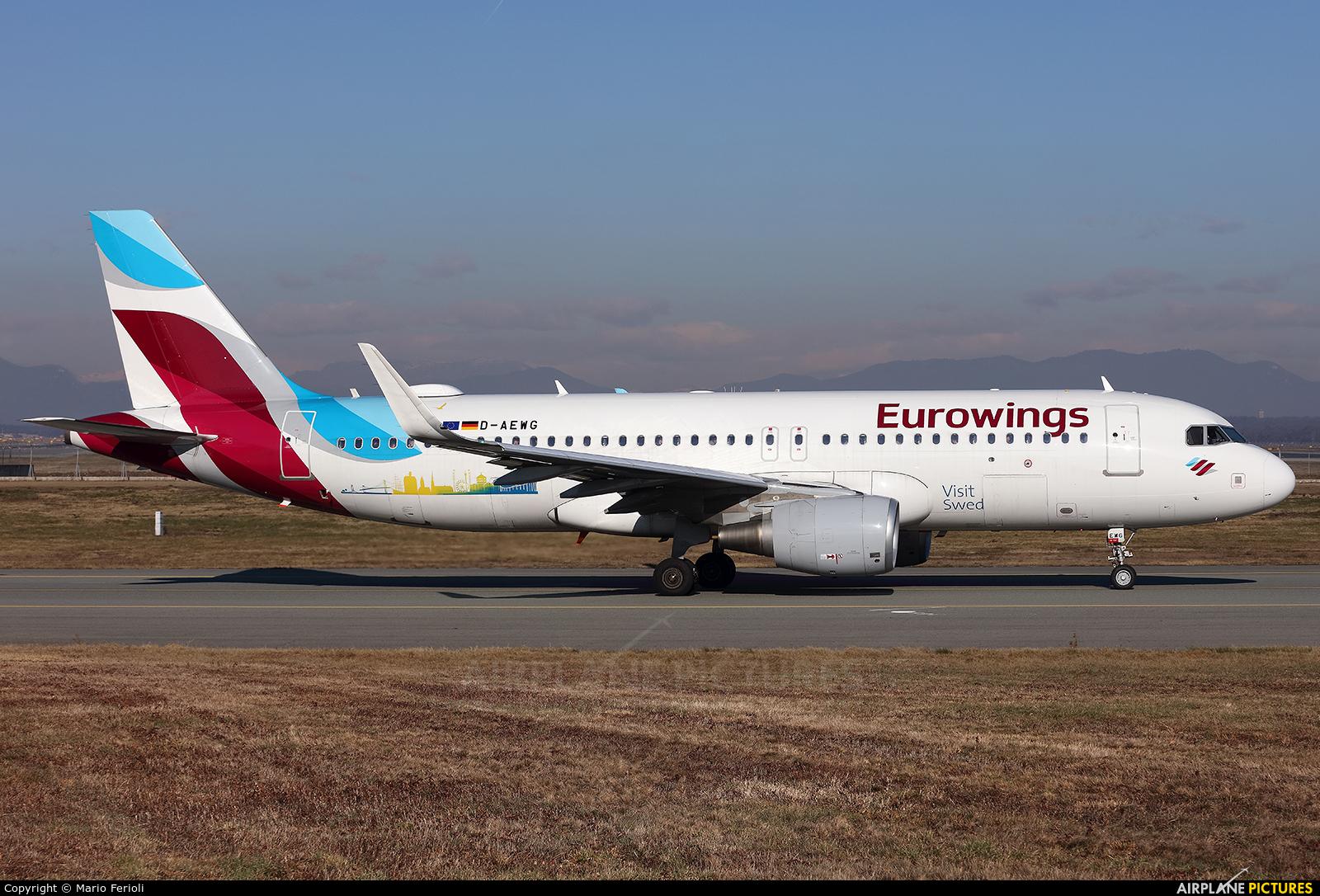 Eurowings D-AEWG aircraft at Milan - Malpensa