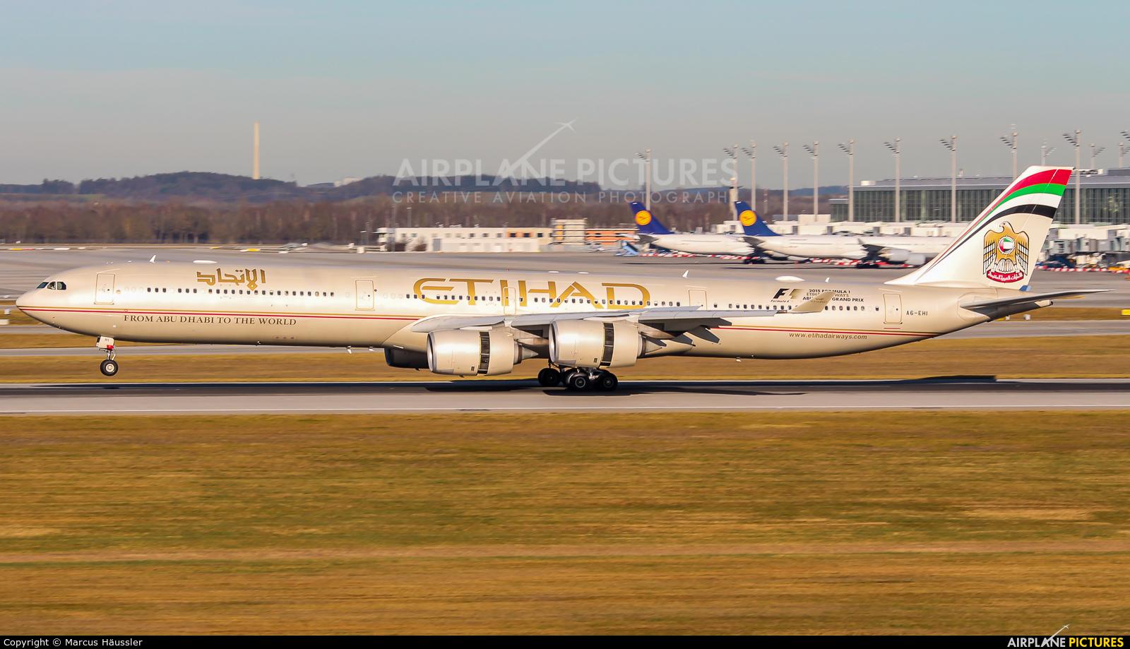 Etihad Airways A6-EHI aircraft at Munich